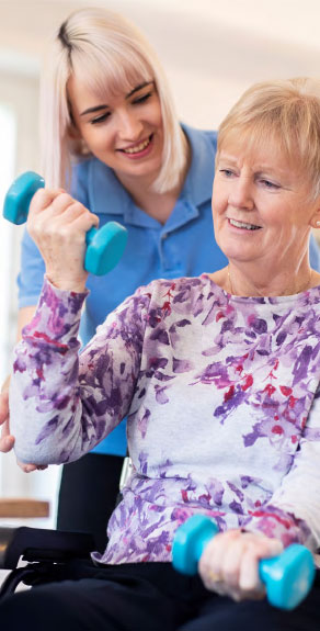 senior woman in therapy
